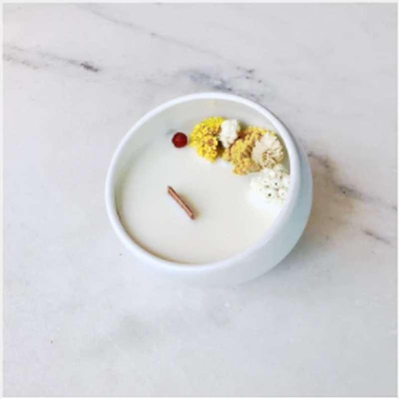Bougie fleurie Fleur de Vanille, Organic Cocoon (9 x 7,5 cm)