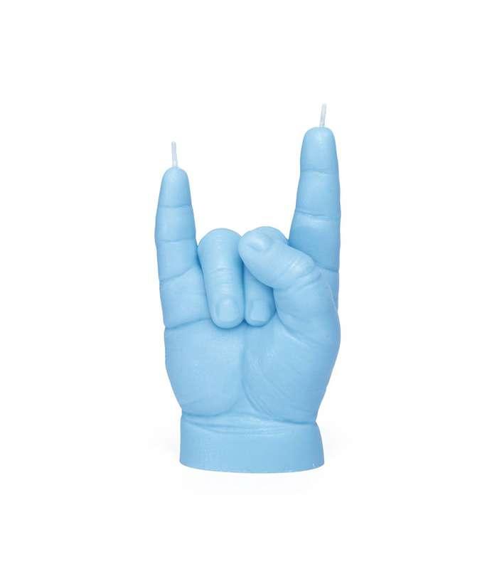 Bougie main de bébé You Rock bleu pastel, CandleHand Baby