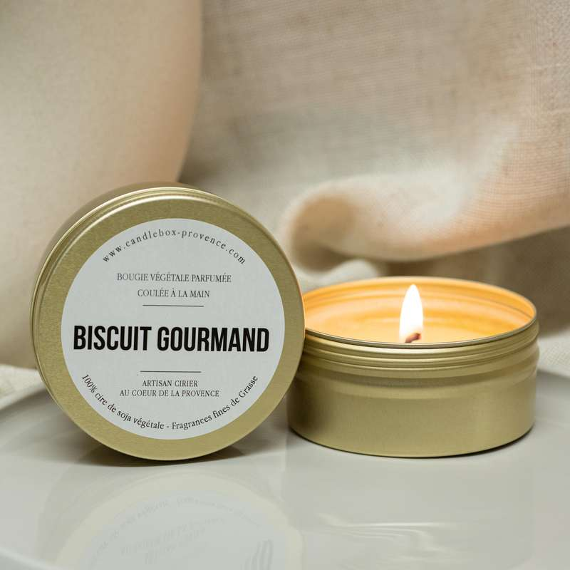 Bougie gourmande Biscuit Gourmand, Candlebox Provence (170 g)
