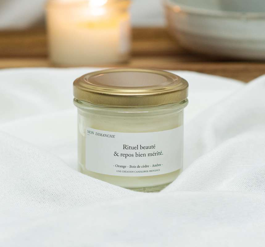Bougie Rituel beauté et repos bien mérité - Bois Précieux, Candlebox Provence (200 g)