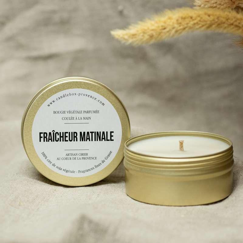 Bougie rafraîchissante Fraîcheur Matinale, Candlebox Provence (170 g)