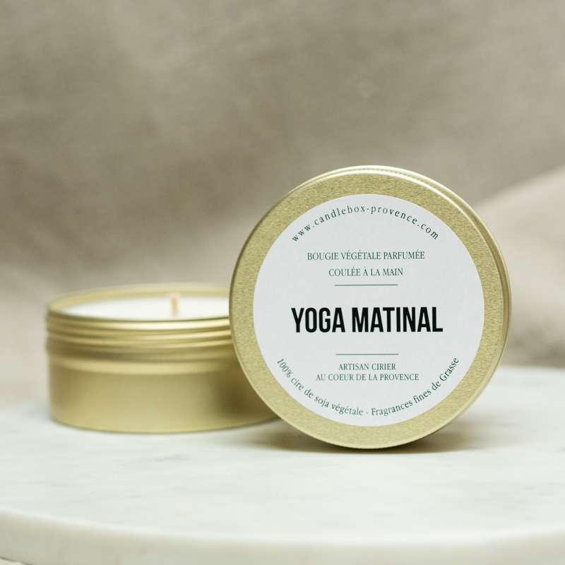 Bougie fraîche et relaxante Yoga Matinal, Candlebox Provence (170 g)