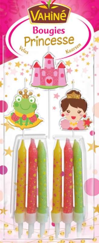 Bougies d'anniversaire Princesse, Vahiné (x 12)