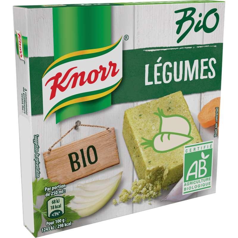 Bouillon de légumes BIO, Knorr (x 6, 60 g)