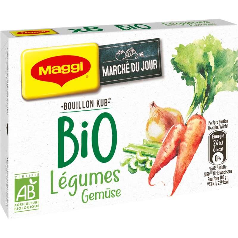 Bouillon de légumes BIO, Maggi (x 8, 80 g)