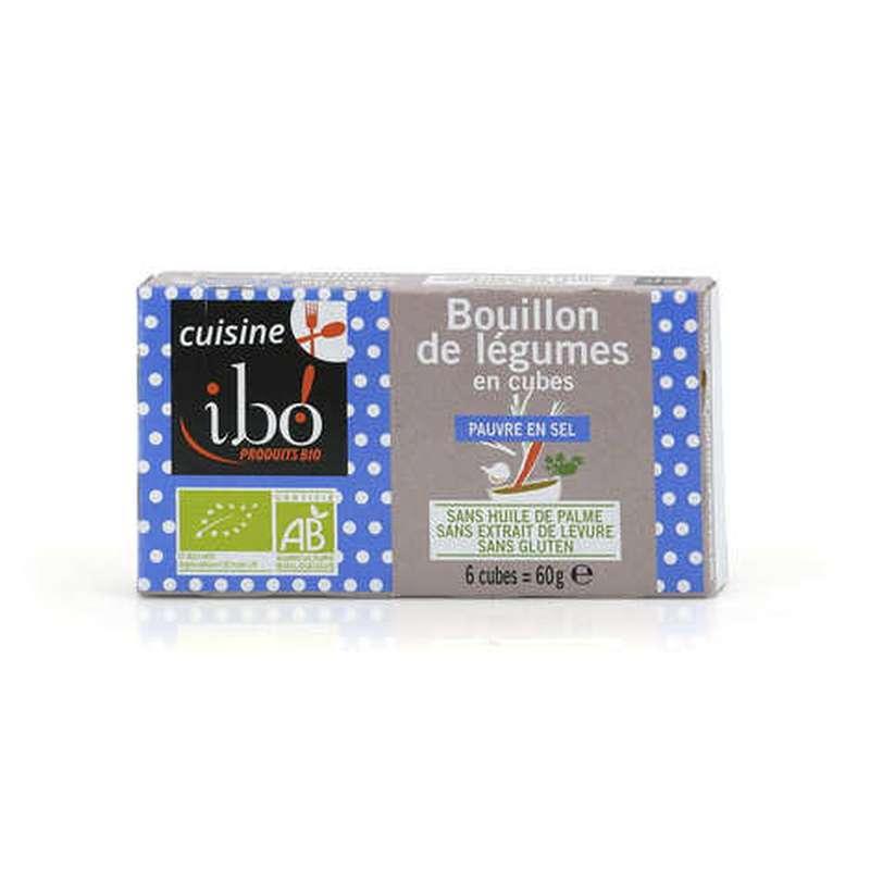 Bouillon de légumes en cubes BIO, Ibo (x 6, 60 g)