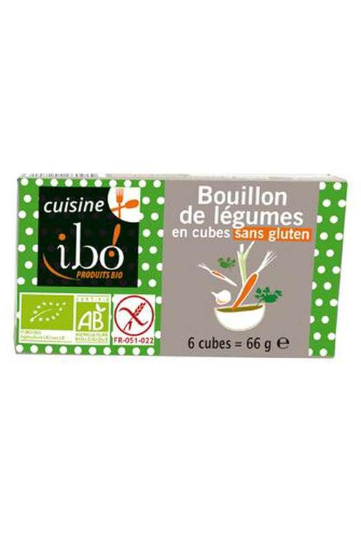 Bouillon de légumes en cubes BIO, Ibo (x 6, 66 g)