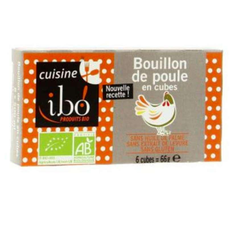 Bouillon de poule en cubes BIO, Ibo (x 6, 66 g)