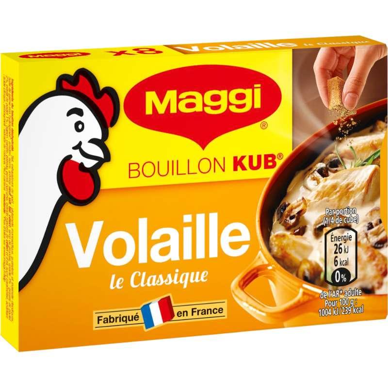 "Bouillon de volaille ""Le Classique"" Kub, Maggi (x 8, 80 g)"