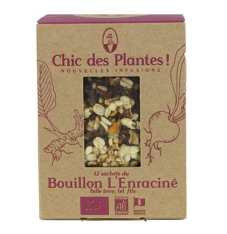 Bouillon l'Enraciné vitalité BIO, Chic des Plantes (12 sachets)