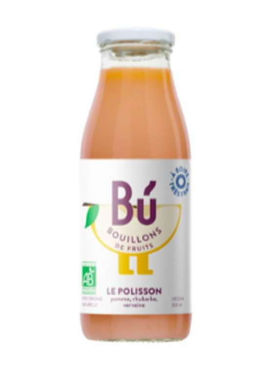 Bouillon pomme, rhubarbe - Le Polisson BIO, Bu (25 cl)