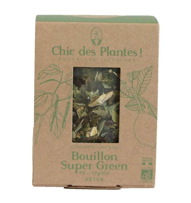 Bouillon Super Green détox BIO, Chic des Plantes (12 sachets)