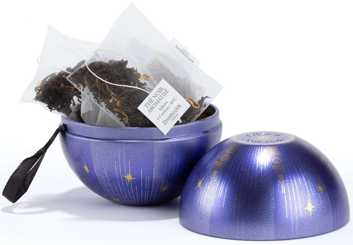 Boule à suspendre thé noir aromatisé - Noël à Londres, Dammann Frères (x 10 sachets)