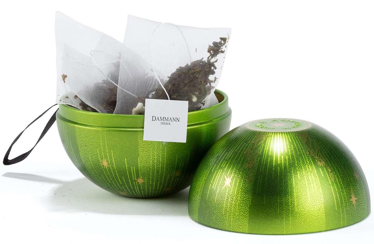 Boule à suspendre thé vert aromatisé - Noël à Manhattan, Dammann Frères (x 10 sachets)