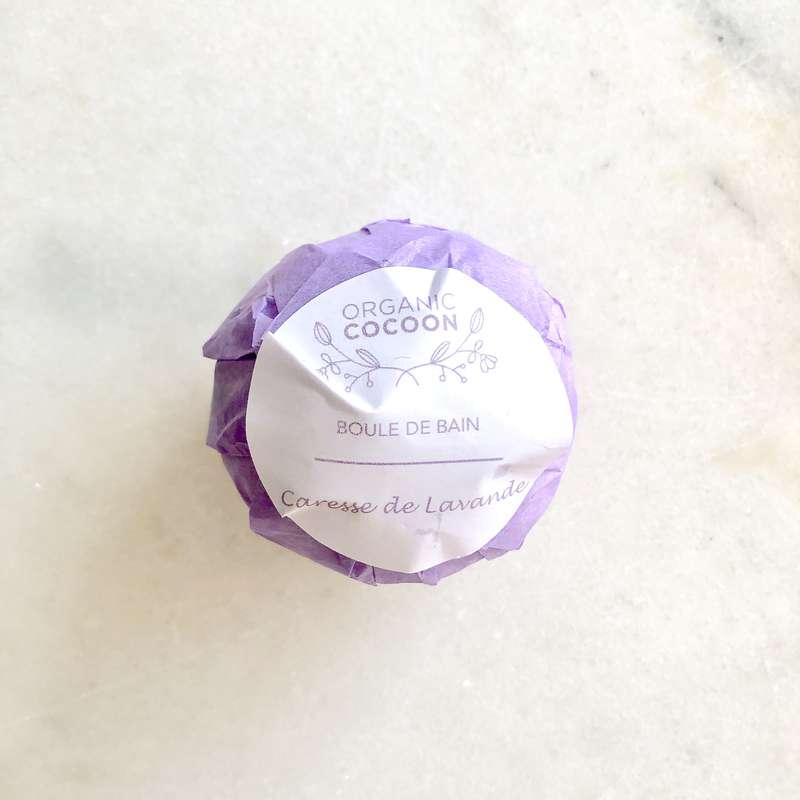 Boule de bain hydratante Caresse de Lavande, Organic Cocoon (145 g)