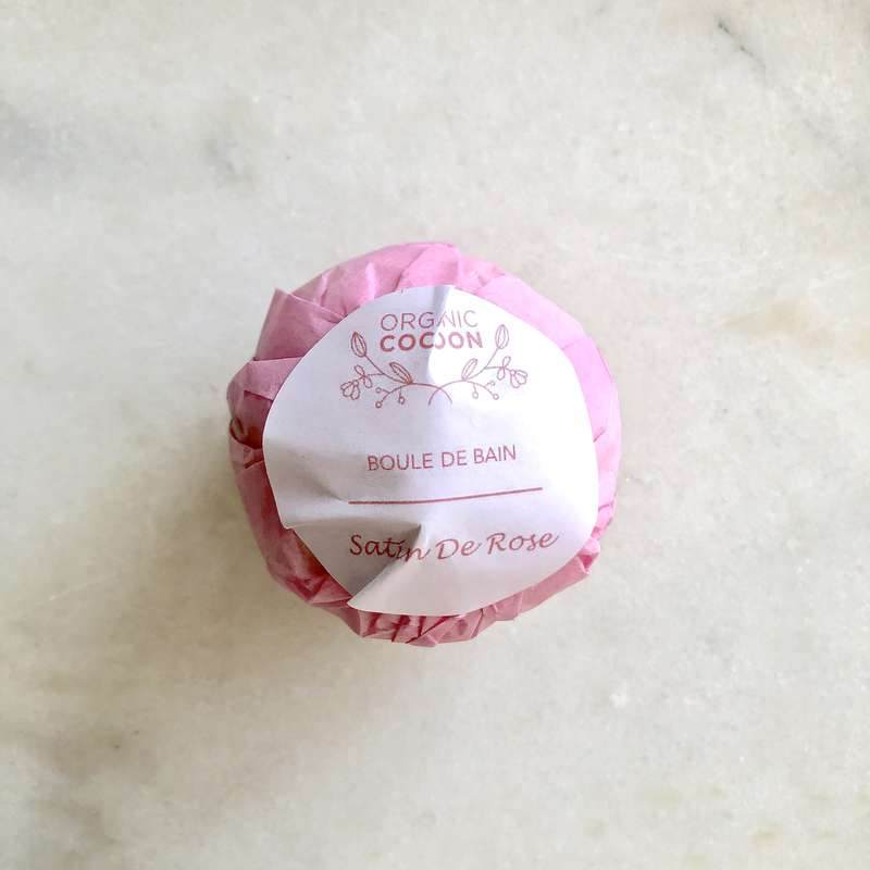 Boule de bain hydratante Satin de Rose, Organic Cocoon (145 g)