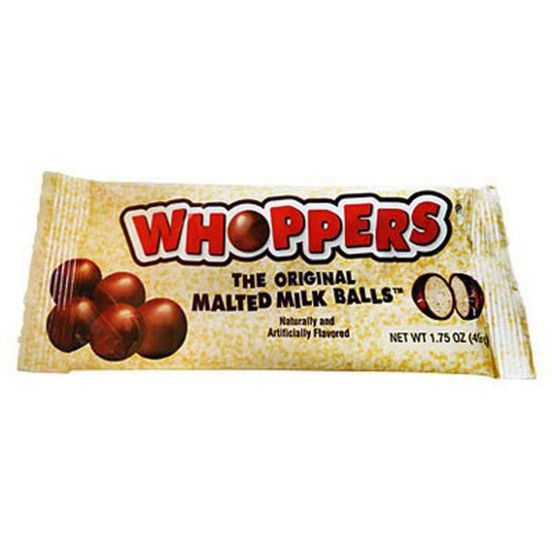 Boules de chocolat au lait malté whoppers, Hershey's (49 g)