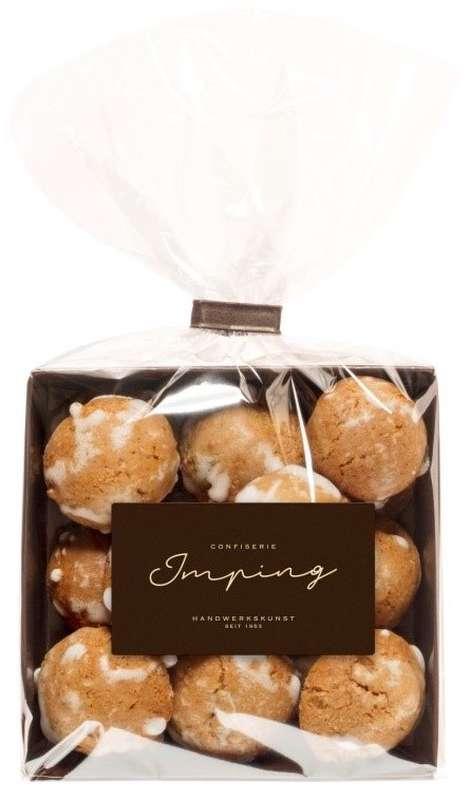 Boules de pain d'épices et amandes, Confiserie Imping (125 g)