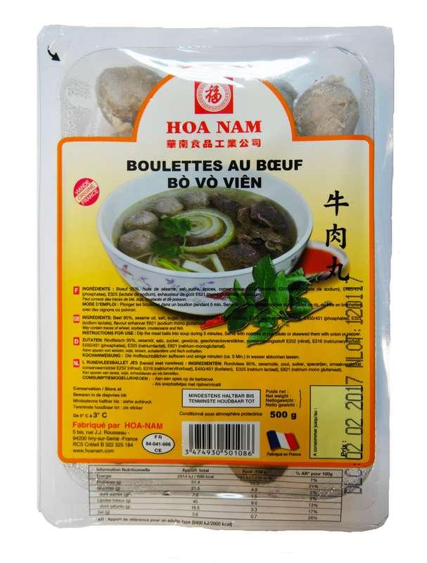 Boulette au boeuf Bo Vo Vien, Hoanam (500 g)