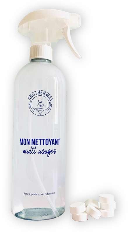 Bouteille réutilisable pour spray nettoyant multi-usages, Anotherway (750 ml)
