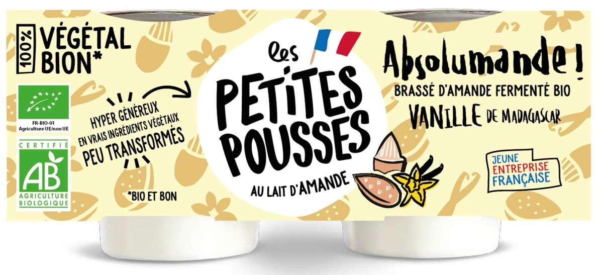 Brassé d'amande fermenté à la vanille de Madagascar BIO, Les Petites Pousses (x2, 200 g)