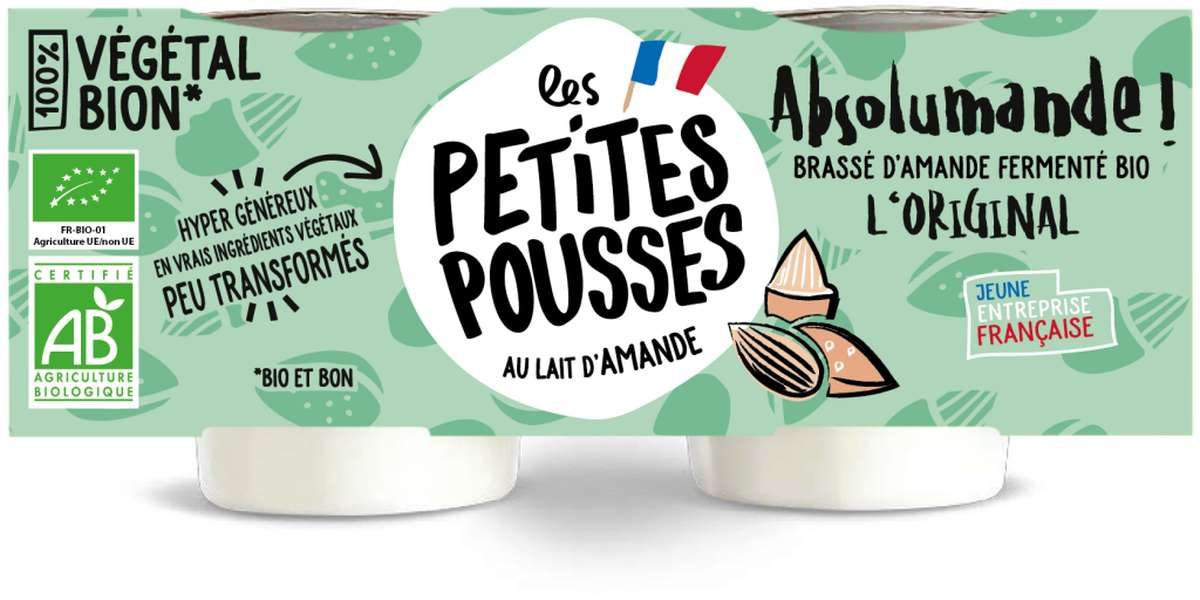 Brassé d'amande L'Original fermenté BIO, Les Petites Pousses (x2, 200 g)