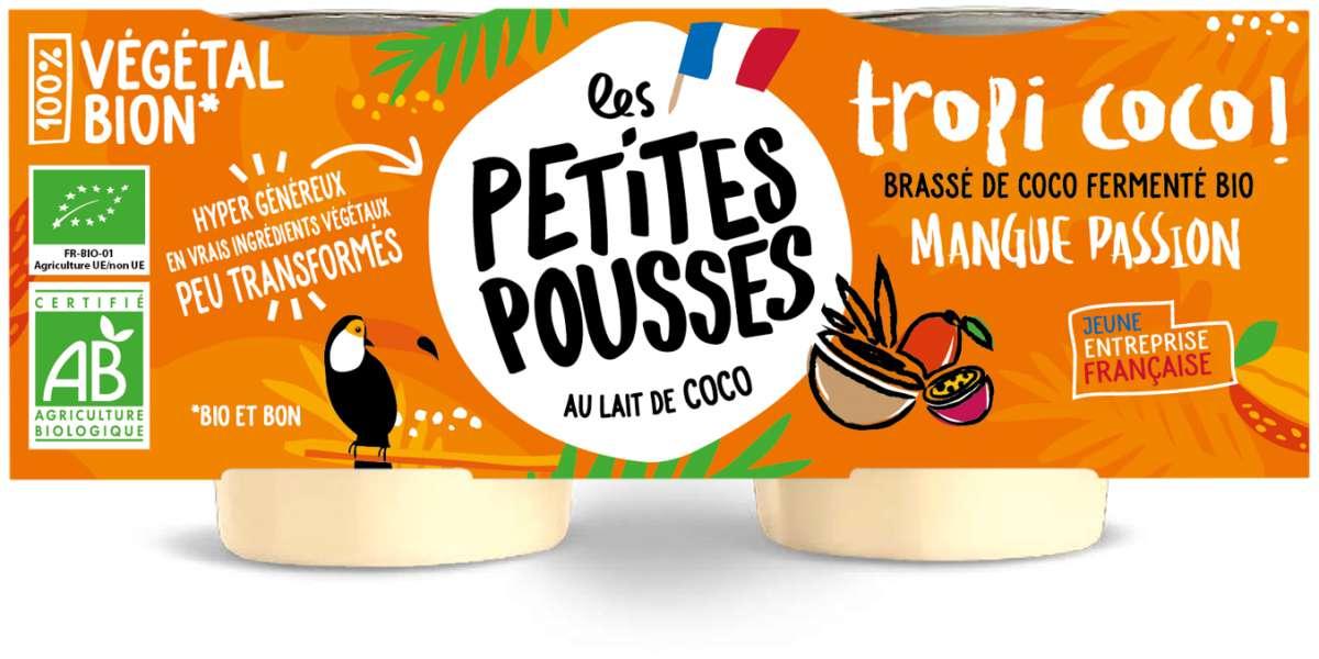 Brassé de coco fermenté Mangue Passion BIO, Les Petites Pousses (x2, 200 g)