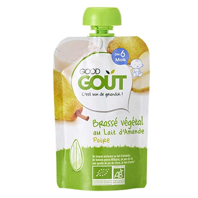 Brassé végétal Lait d'amande Poire BIO - dès 6 mois, Good Goût (90 g)