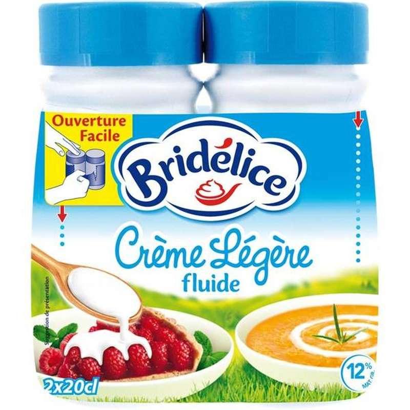 Crème légère fluide, Bridélice (2 x 25 cl)