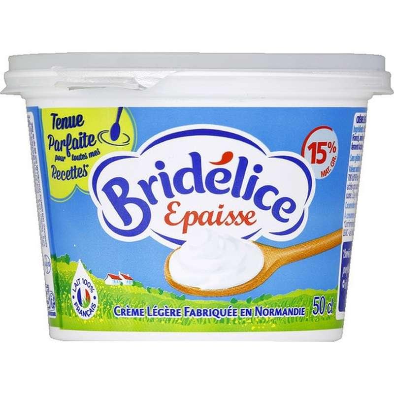 Crème fraîche épaisse 15% MG, Bridélice (50 cl)