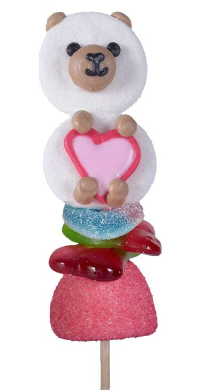 Brochette de bonbons Candy Bear, Tonton Pierrot (55 g)