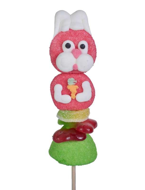 Brochette de bonbons Lapin, Tonton Pierrot (55 g)