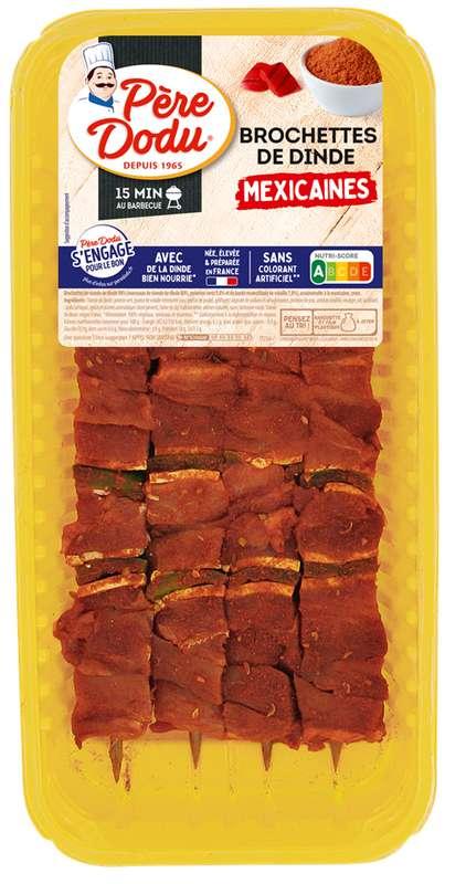 Brochettes de dinde à la mexicaine, Père Dodu (x4, 380 g)