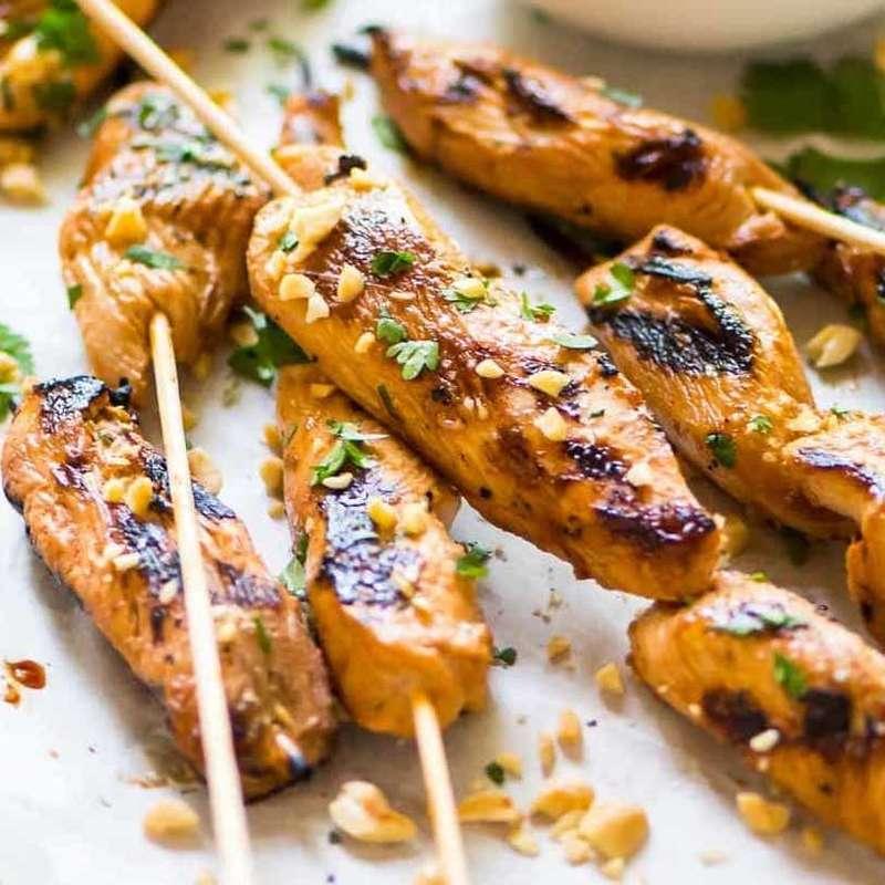 Brochettes de poulet fermier satay (x 3, 250 g)