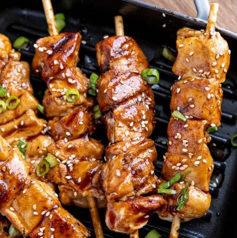 """Brochettes de poulet fermier snackées """"Asiatique"""" (x 3, 270 g)"""