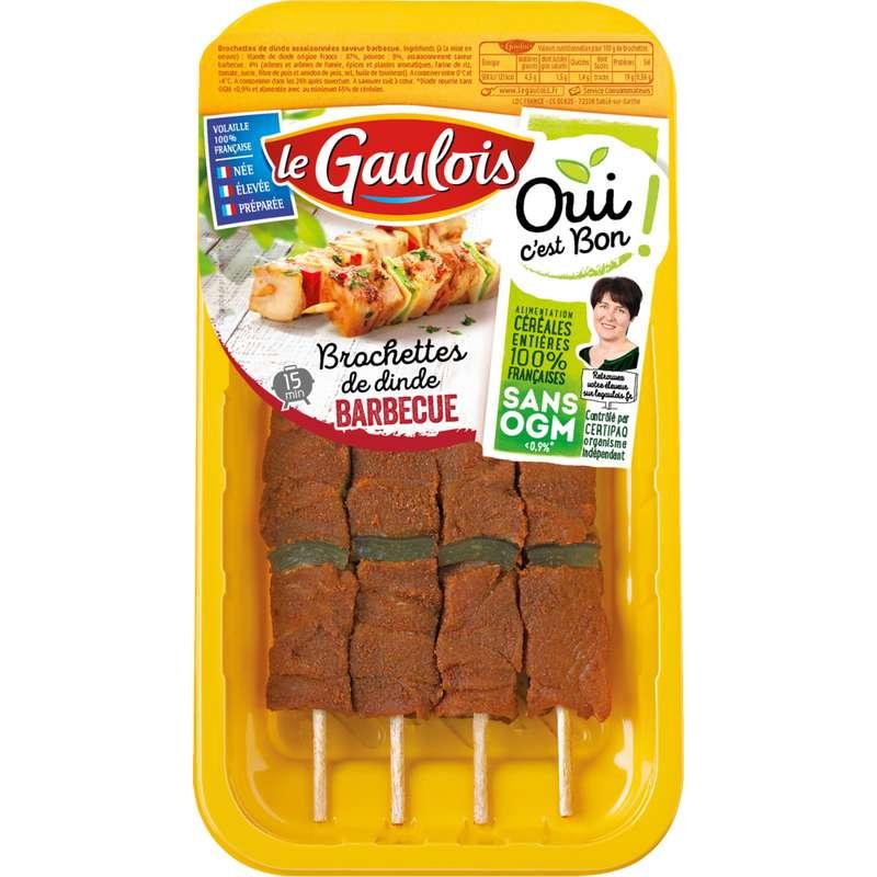 Brochettes de dinde saveur barbecue, Le Gaulois (x 4)