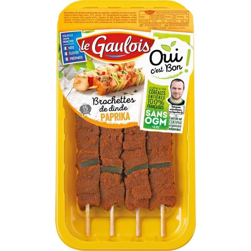 Brochettes de dinde au paprika, Le Gaulois (x 4)