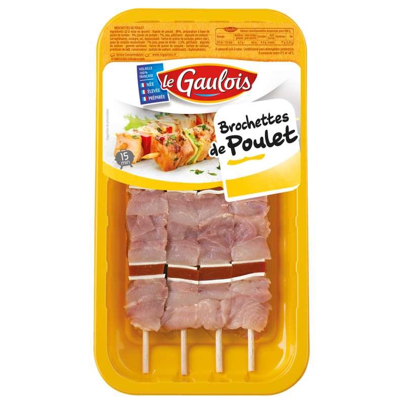 Brochettes de poulet, Le Gaulois (x 4)