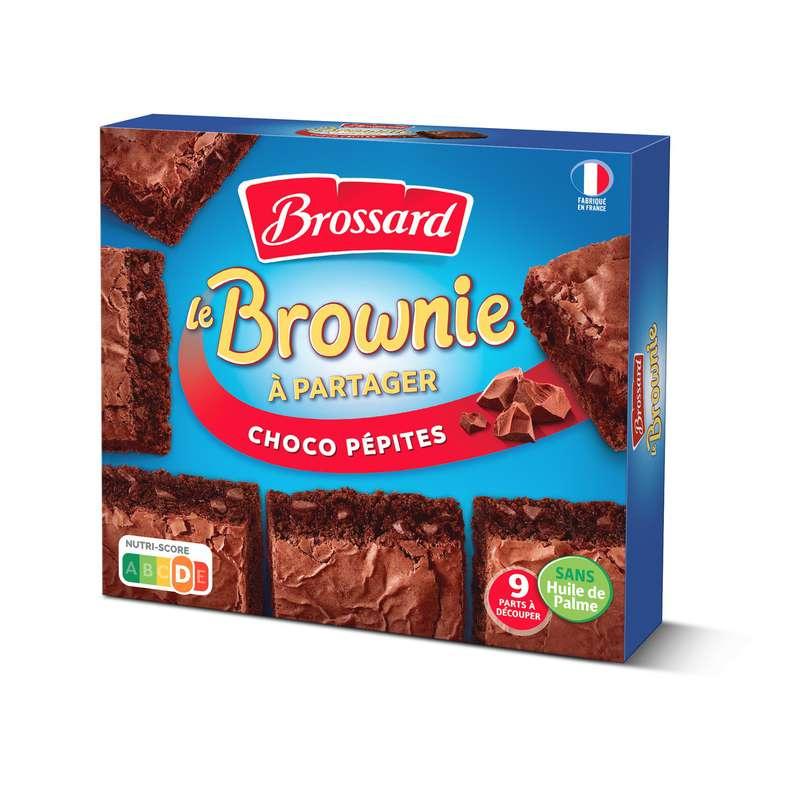 Brownie aux pépites de chocolat à partager, Brossard (x 9 parts, 285 g)