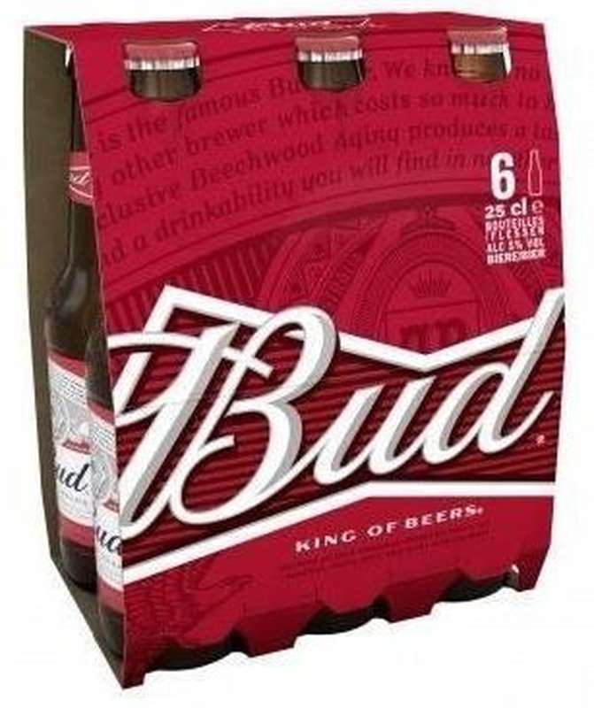 Pack de Bud, 5° (6 x 25 cl)