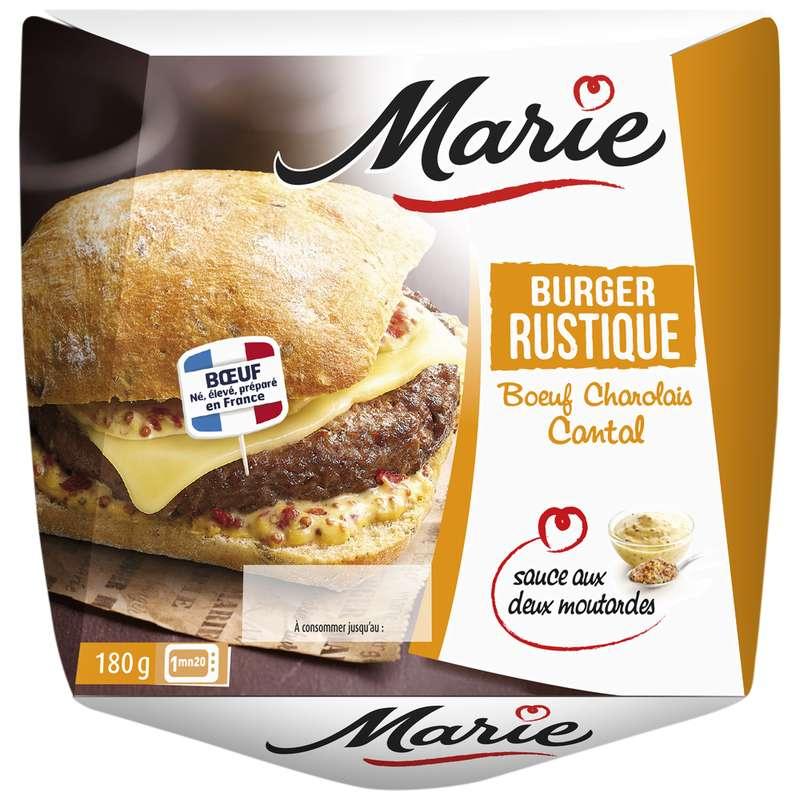 Burger Rustique charolais cantal sauce deux moutardes, Marie (180 g)