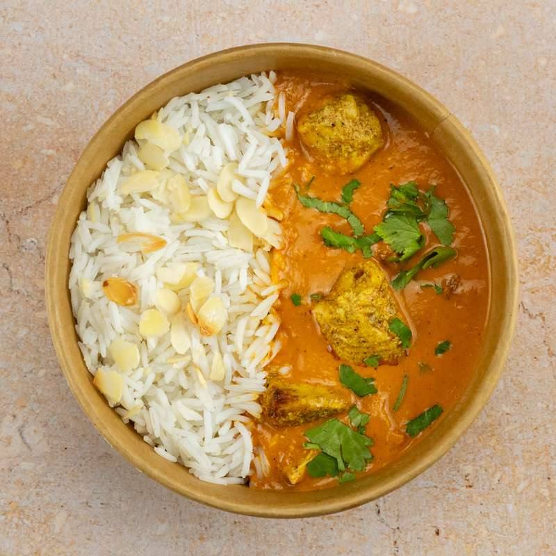 Butter chicken, riz basmati (300 g)