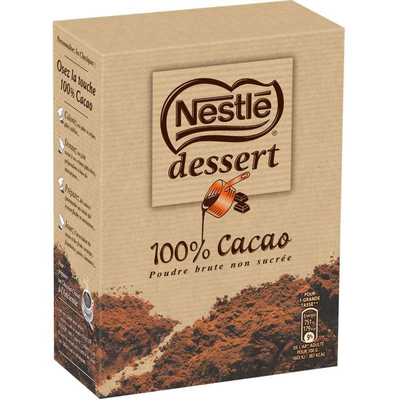 Cacao en poudre non sucré, Nestlé dessert (250 g)
