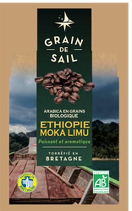 Café Arabica BIO Ethiopie moka limu, Grain de Sail (500 g)