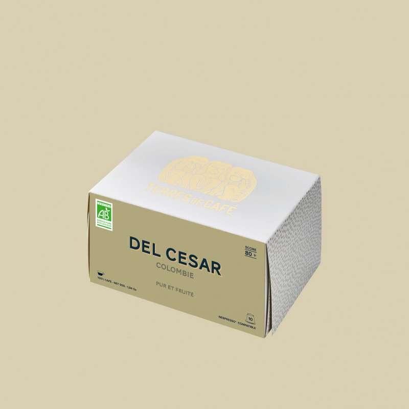 Café capsule Colombie Del Cesar BIO, Terres de café (x 10)