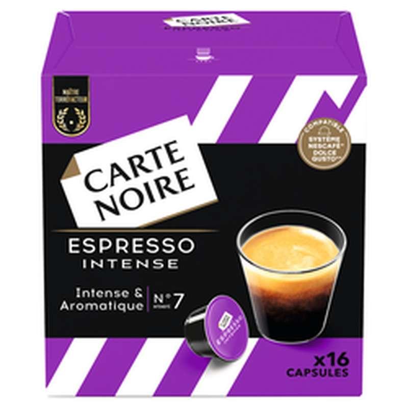 Café capsule Espresso Intense n°7, Carte Noire (x 16, compatible Dolce Gusto)