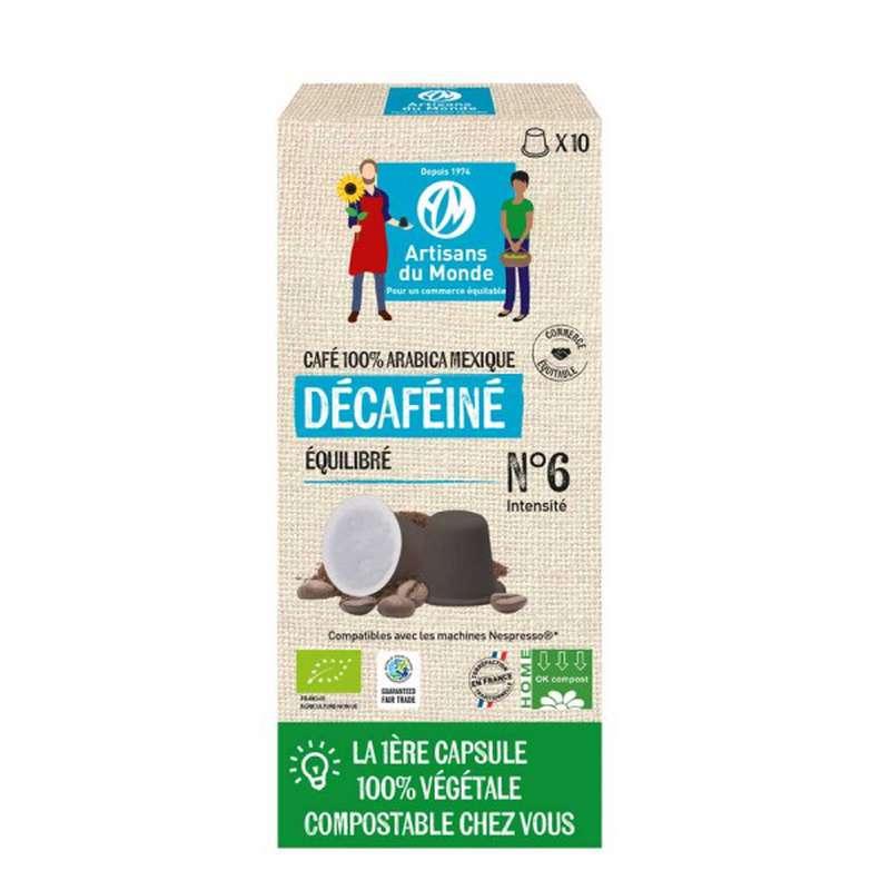 Café capsule Home Compost Déca BIO, Artisans du monde (x 10, 50 g)