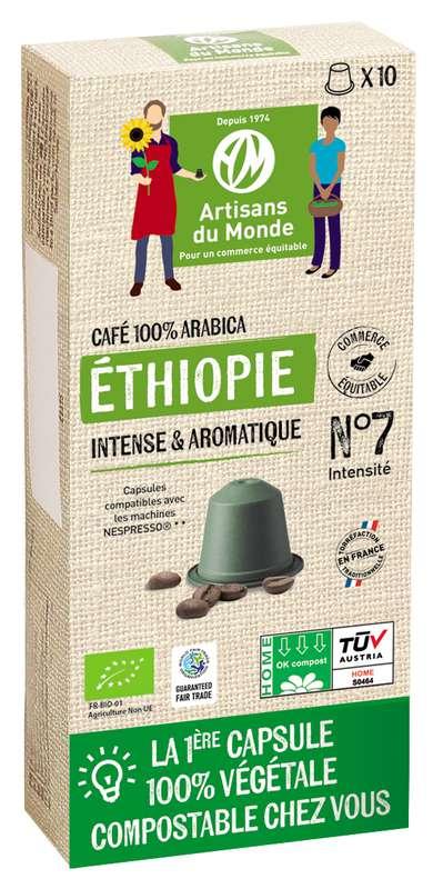 Café capsule Home Compost Ethiopie BIO, Artisans du monde (x 10, 50 g)