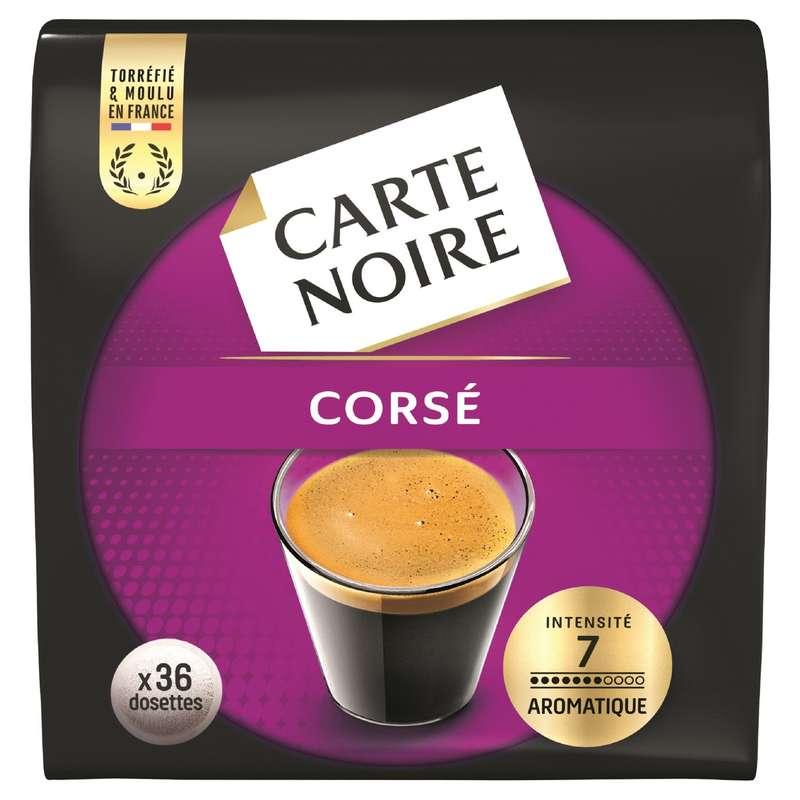Café dosette Corsé n°7, Carte Noire (x 36)