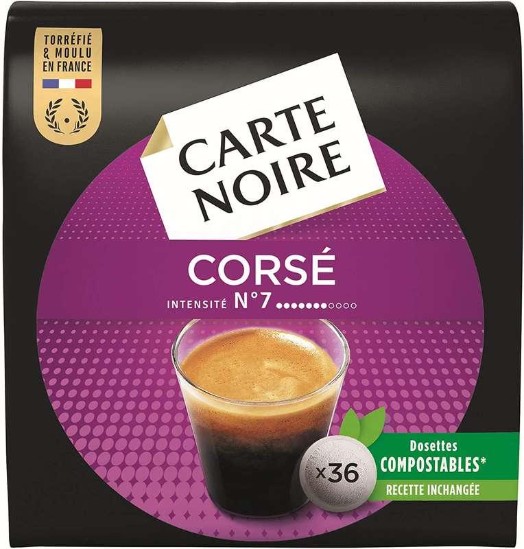Café dosette Corsé n°7 LOT DE 2, Carte Noire (2 x 36)